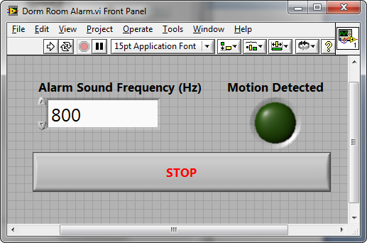 Dorm Room Alarm System Using a PIR Motion Detector, Speakers
