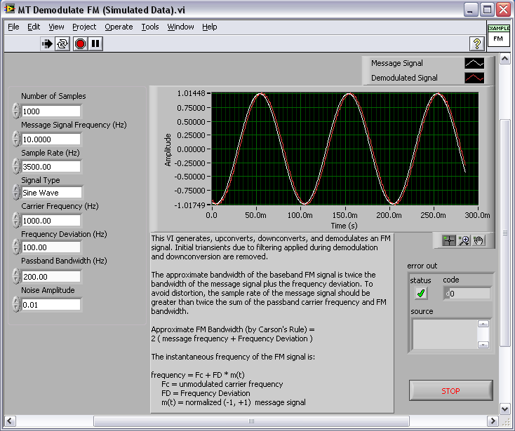 Modulation Toolkit Demodulate Frequency Modulation (FM) with