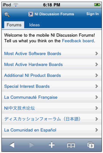 NI Discussion Forums and Idea Exchange Now Optimized for