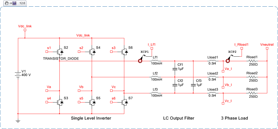 Complete System Simulation of a 3-Phase Inverter Using NI