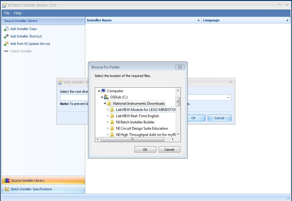 Creating a Custom Installer with the NI Batch Installer