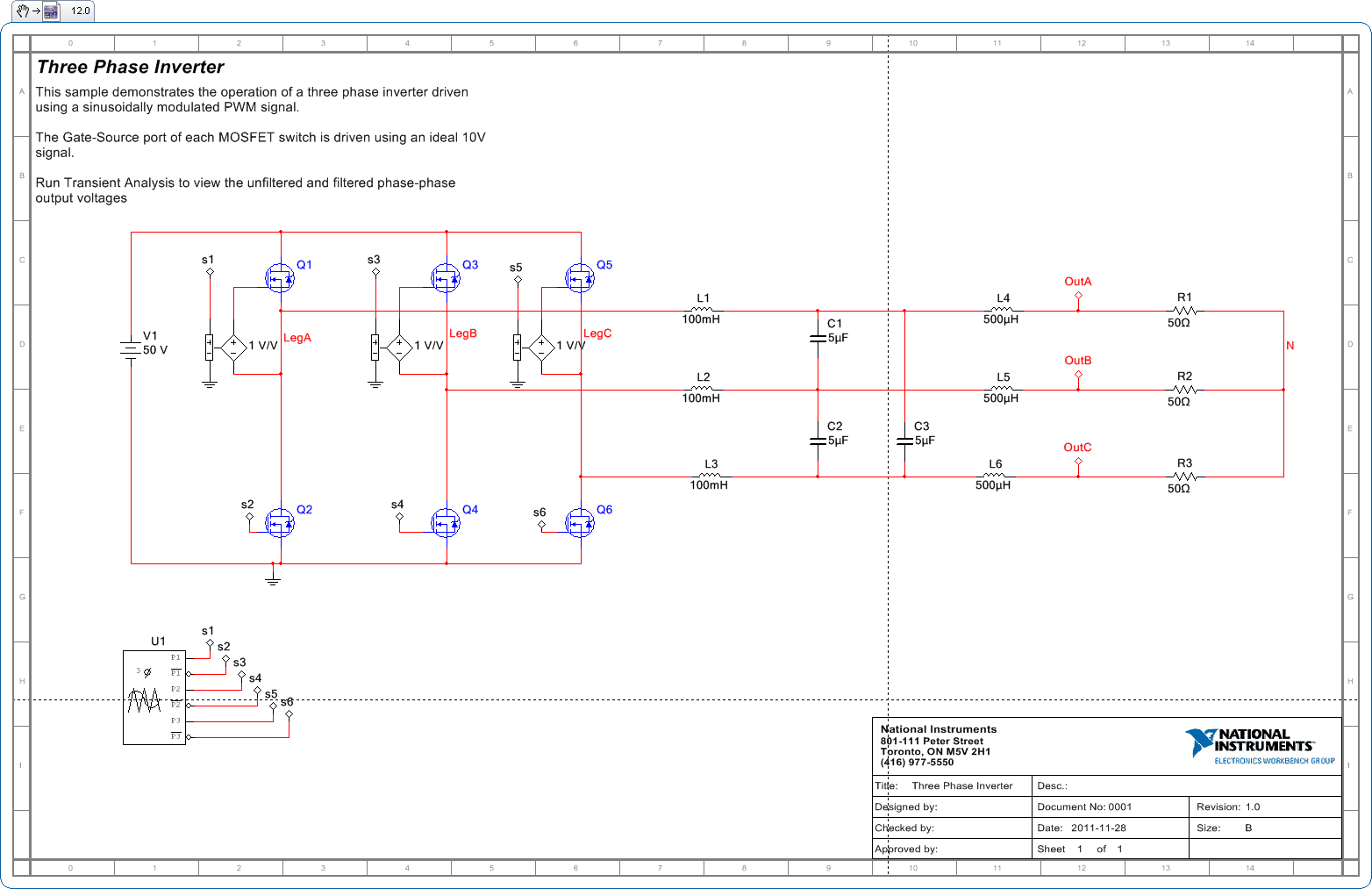 design and implementation of a single phase inverter circuit essay Design and implementation of seven level cascaded h-bridge inverter using low frequency transformer with single dc source t singaravelu1, mbalasubramani2.