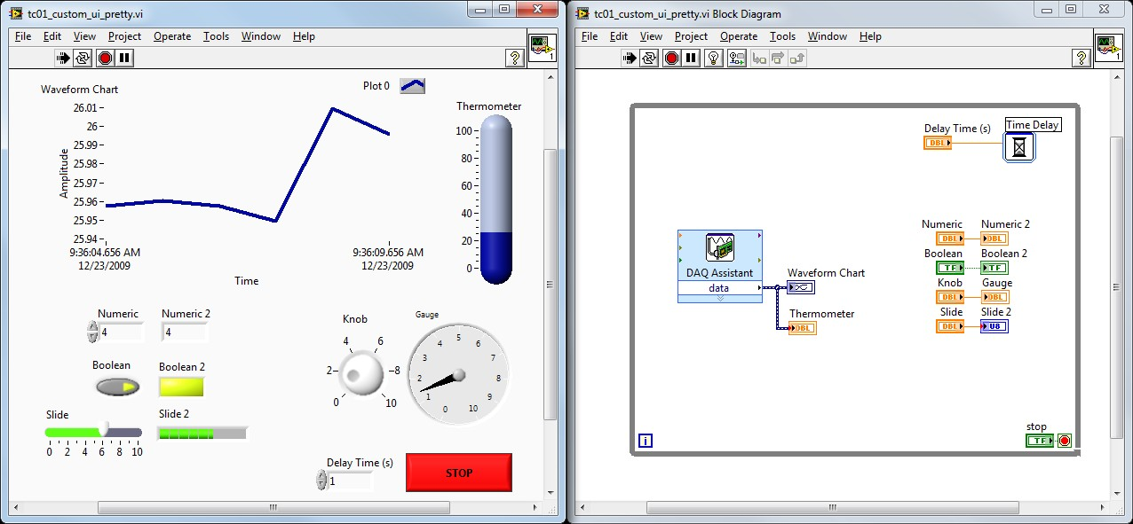 Designing Custom User Interfaces In Ni Labview For Your Ni Usb Tc01 National Instruments