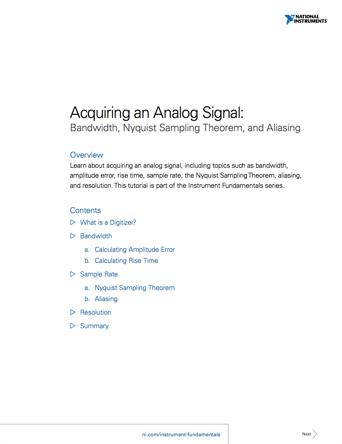 acquiring an analog signal bandwidth nyquist sampling theorem acquiring an analog signal bandwidth nyquist sampling theorem and aliasing