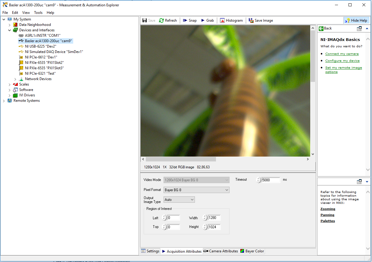 Getting Started with USB3 Vision Cameras and NI Vision Acquisition