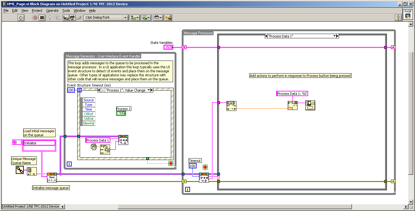 Creating Hmi Pages For Labview Touch Panel Module Blak Blakan Block Diagram In Architecture Amc