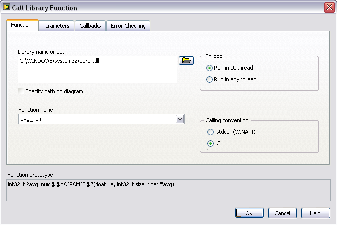 Writing Win32 Dynamic Link Libraries (DLLs) and Calling Them