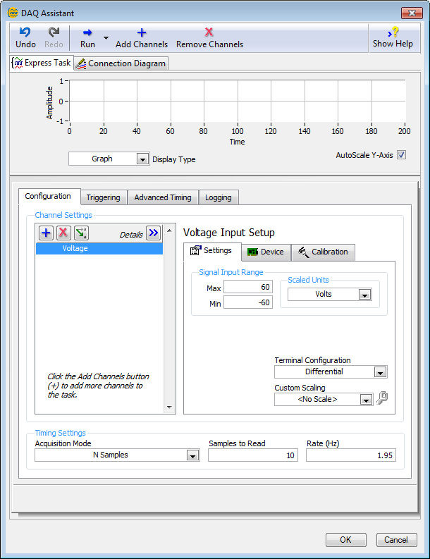 Using the DAQ Assistant to Automatically Generate LabVIEW Code