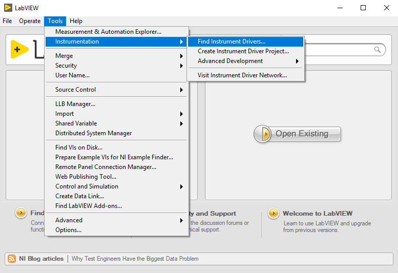How to Use an Instrument Driver in LabVIEW Tutorial