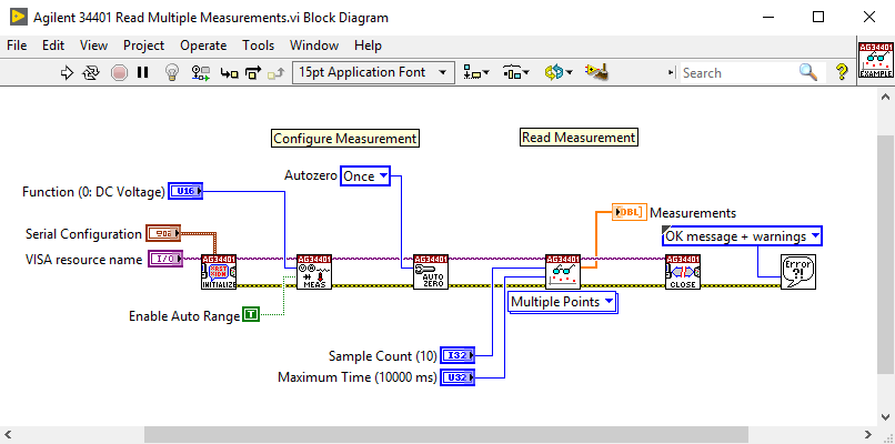 how to use an instrument driver in labview tutorial national rh ni com Stepper Motor LabVIEW Block Diagram Example