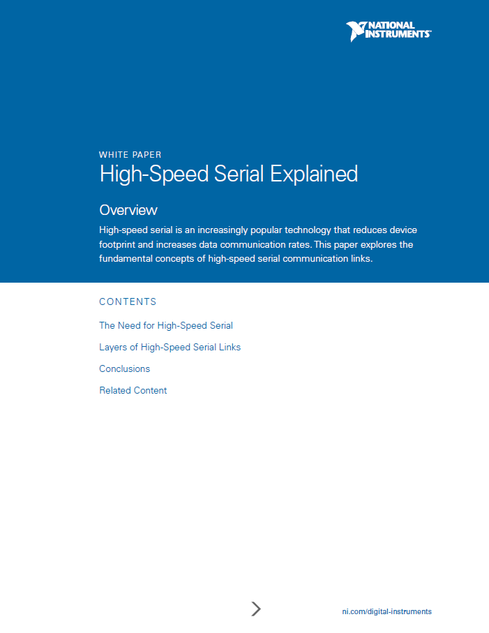 High-Speed Serial Explained - National Instruments
