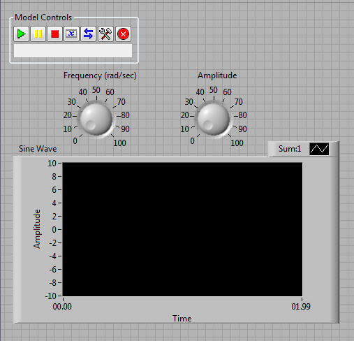Building a LabVIEW UI for a Simulink® Model with LabVIEW Simulation