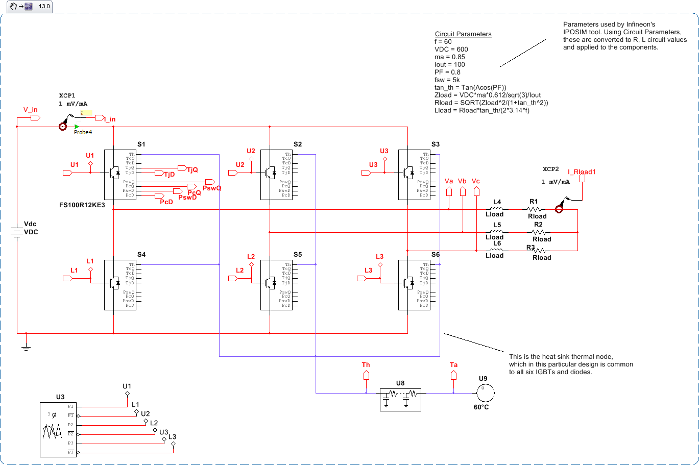 Power Electronics Design With Ni Multisim National Instruments Ac Switch Control Optotriaccircuit Diagram 3 Phase Inverter Thermal Modeling And Switching Conduction Losses