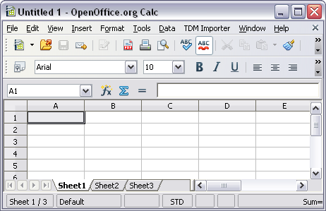 TDM Add-In Tool for OpenOffice org Calc User Guide