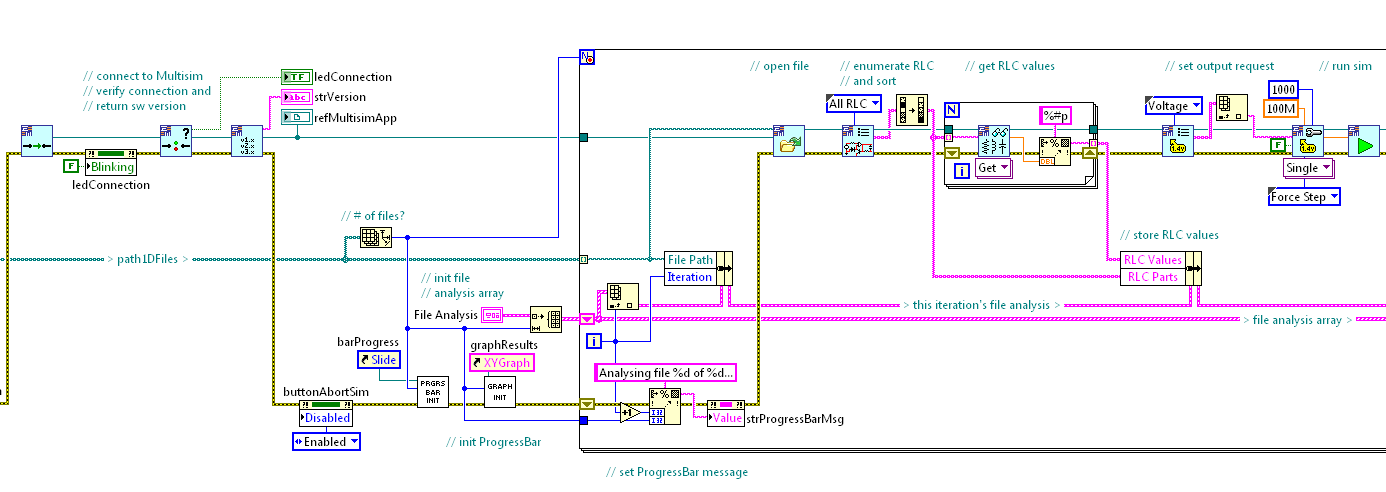 automate student assessment using the ni labview multisim api