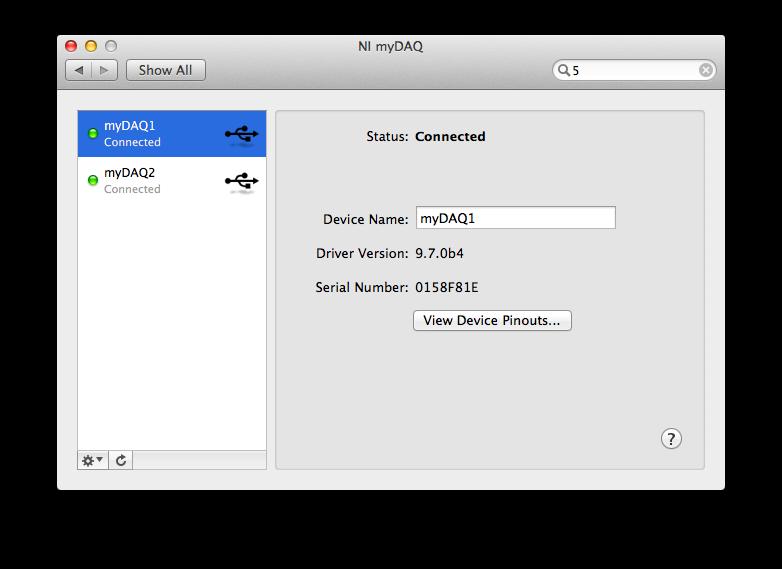 Getting Started With NI-DAQmx for myDAQ on Mac OS X