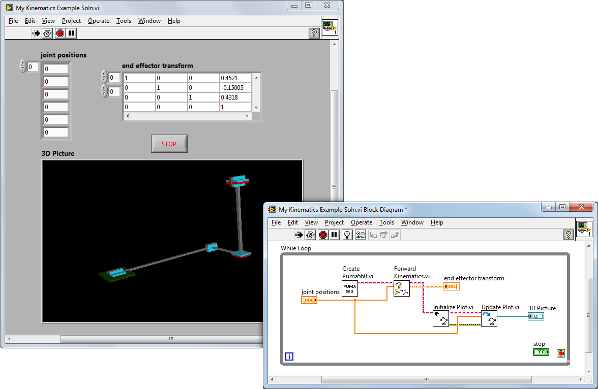 Overview Of The Labview Robotics Module National Instruments Garmin 8000 Wiring Diagram 6 Think Control A Robotic Arm
