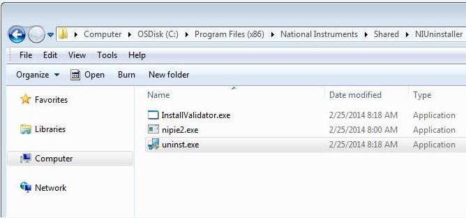 Uninstall or Repair National Instruments Software or Drivers in