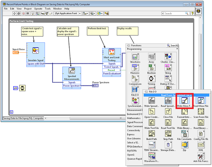 automate saving and reporting data with labview