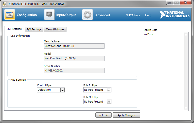 USB Instrument Control Tutorial - National Instruments