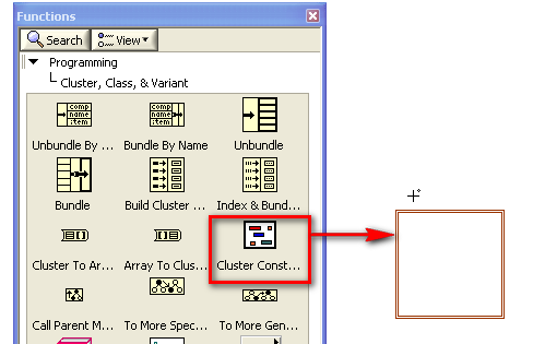 tutorial arrays and clusters national instruments rh ni com labview block diagram array labview block diagram array