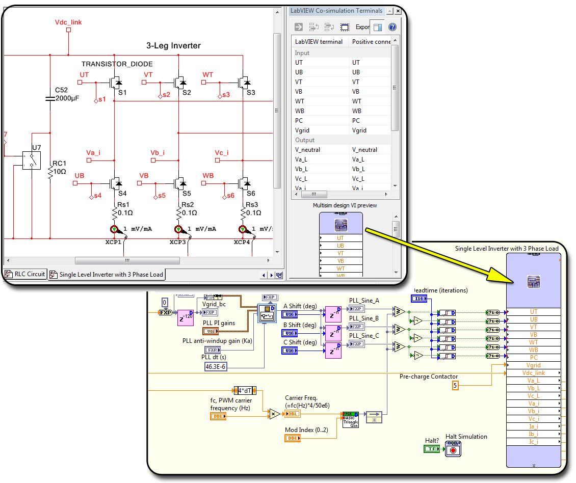 Ni Single Board Rio General Purpose Inverter Controller Features Electrical 2011 Provides Circuit Design And Analysis Tools Figure 2 Labview Multisim Co Simulation