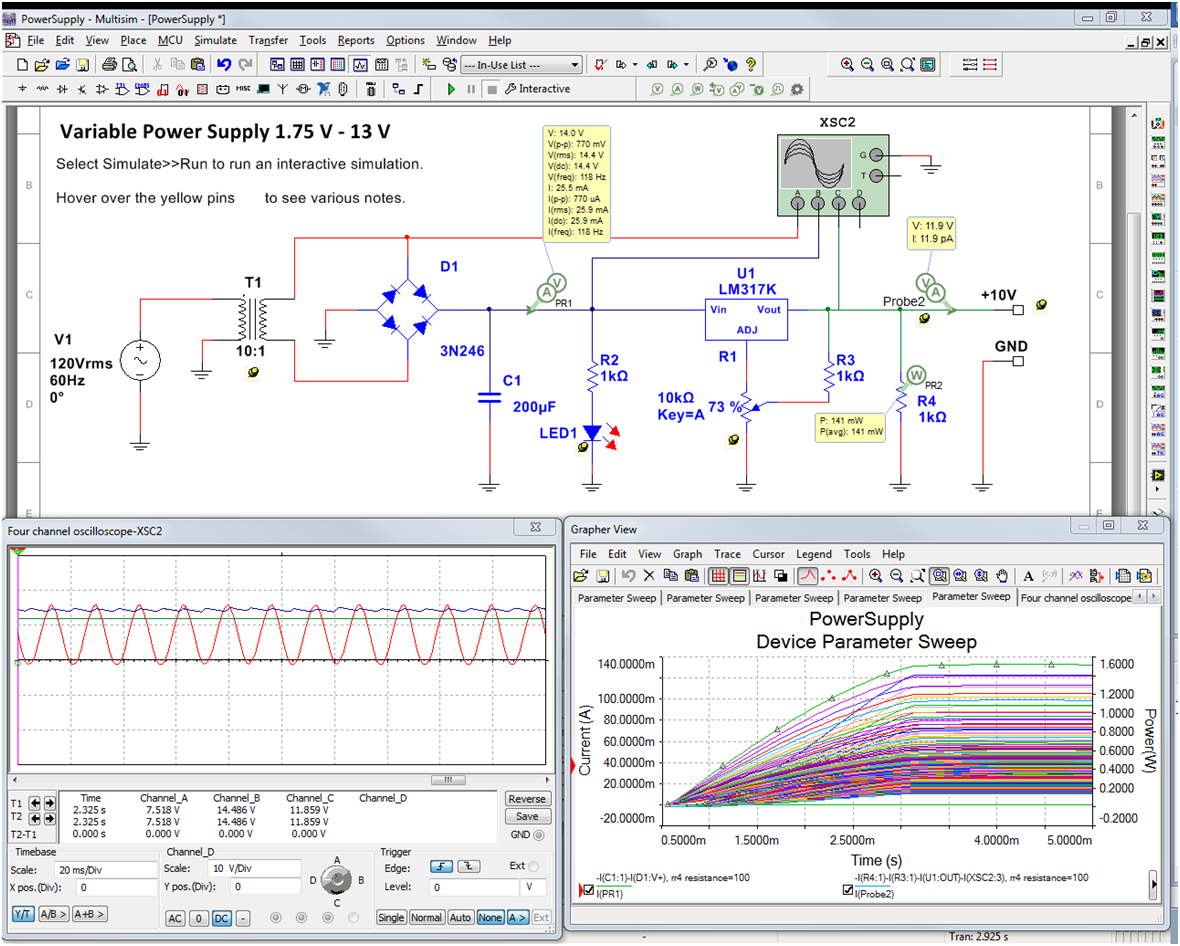 Accurately Evaluate Circuits With New Probes In Multisim National Generator Voltmeter Ac Wiring Instruments