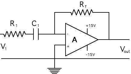 En on integrator amplifier circuit diagram
