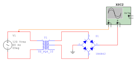 construct full wave rectifier