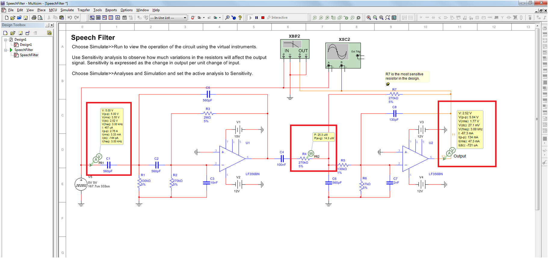 Faster Simulation With The Multisim Active Analyses National Capture And Of Electrical Circuits Actual Enlarge Image