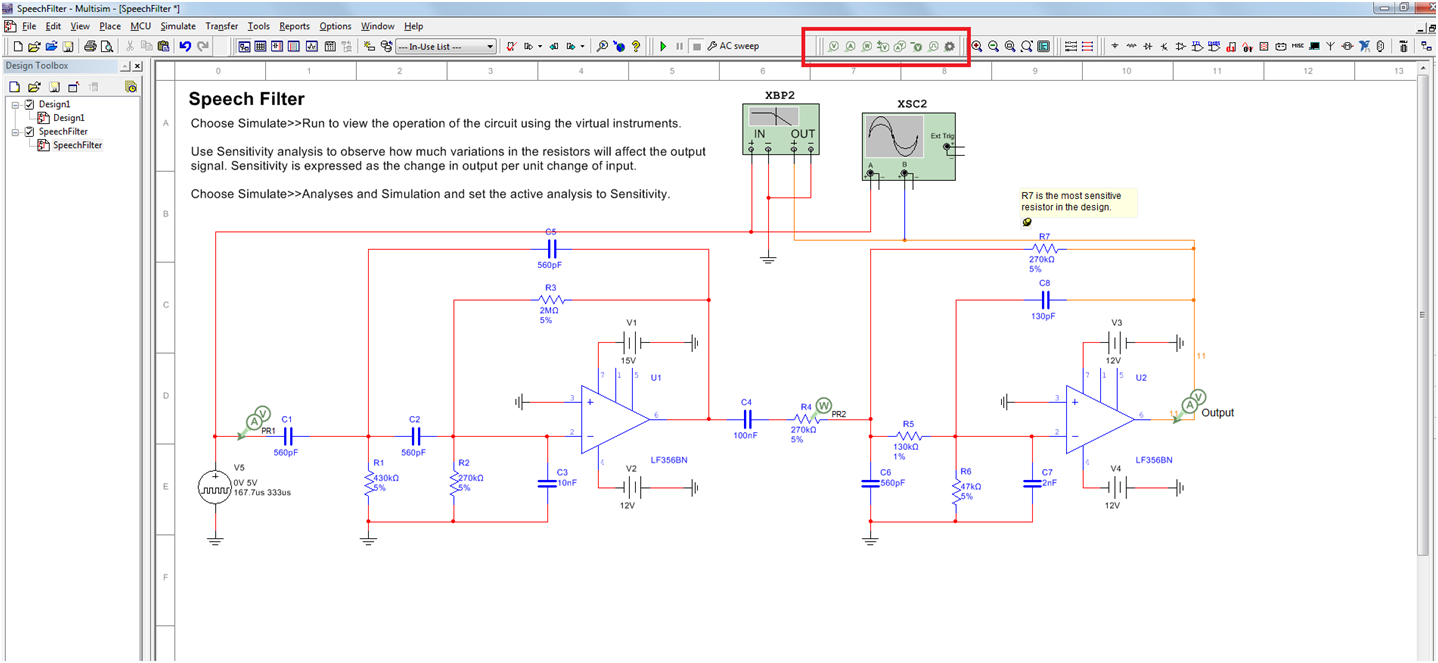 Accurately Evaluate Circuits With New Probes In Multisim National Running Message Display Led Circuit The