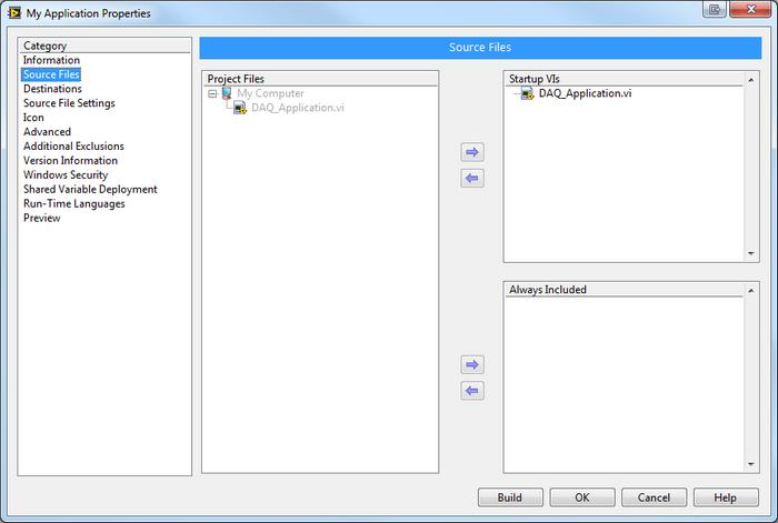 Creating an NI-DAQmx Application Installer with LabVIEW