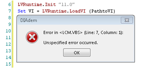 Calling a LabVIEW SubVI with DIAdem - National Instruments
