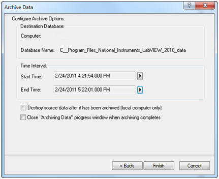 archiving options for citadel historical databases national rh ni com labview manual 2018 labview manual 2016