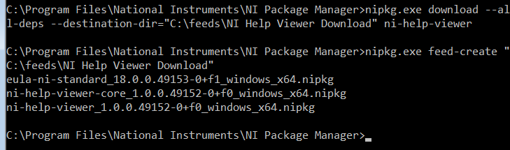 Installing an NI Product Package on an Offline Machine