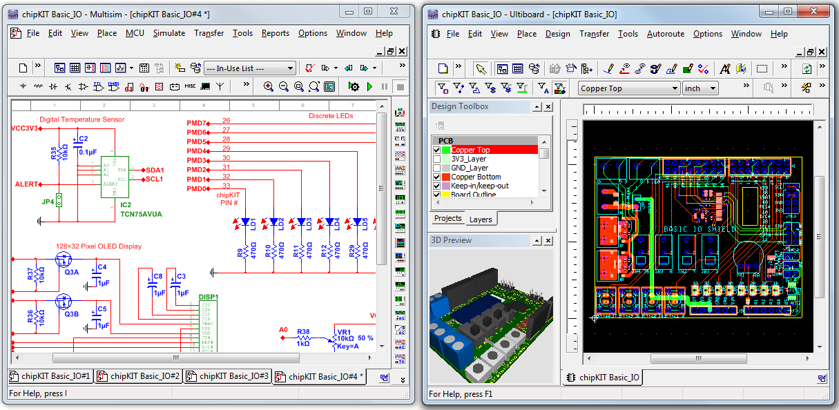 Reference designs and templates for digilent boards in