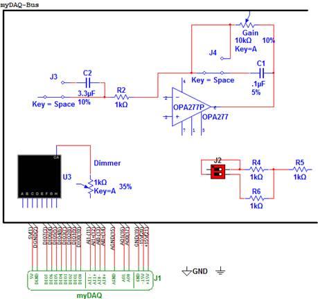 pcb的简单原理图图片大全下载; 绘制与mydaq兼容的pcb电路的原理图