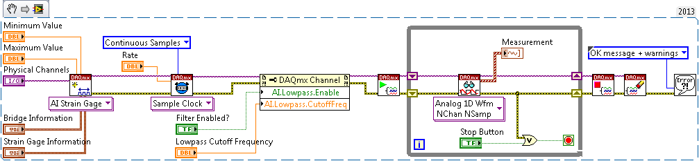 LabVIEW block diagram
