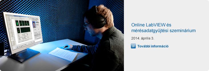 Online LabVIEW és mérésadatgyűjtési szeminárium