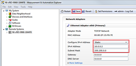 Configure Compactrio With A Static Ip Address National
