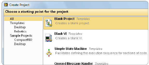 how to create a project programming